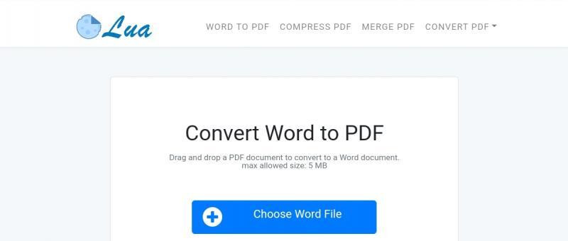 Convert word to pdf in GetLua