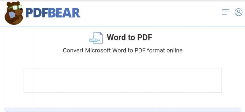 Convert word to pdf in PDFBear
