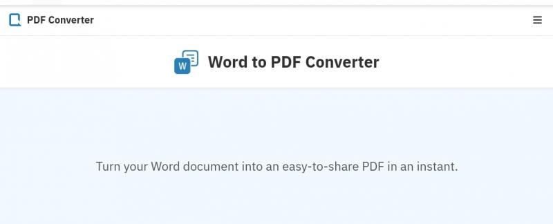 Convert word to pdf in PDFConverter