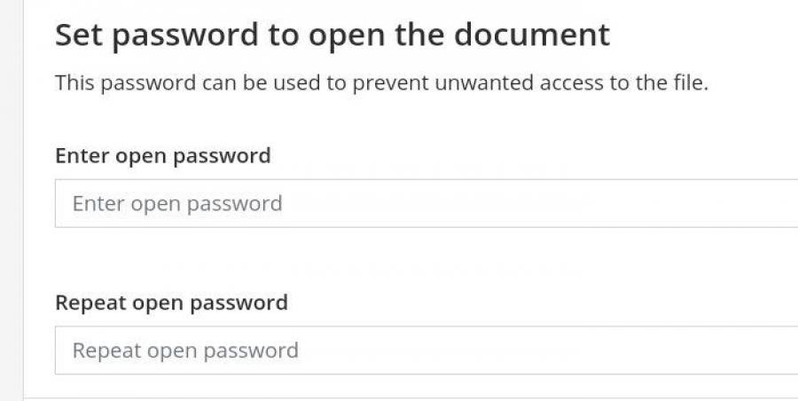 PDF2GO input password