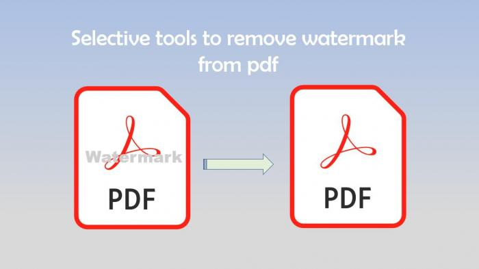 Selective tools for PDF watermark removing