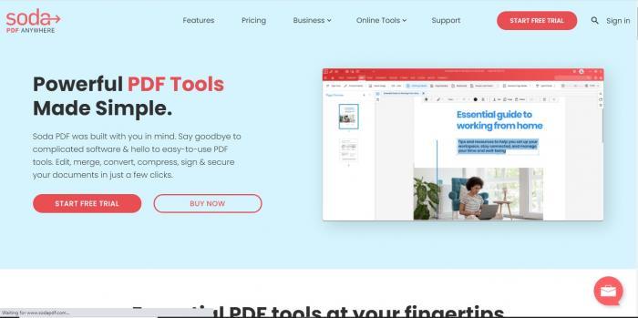 Soda PDF Website