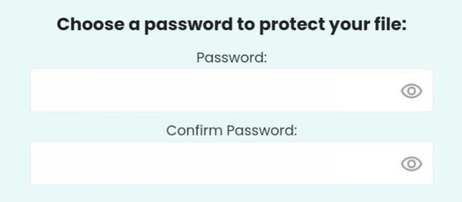 Sodapdf input password