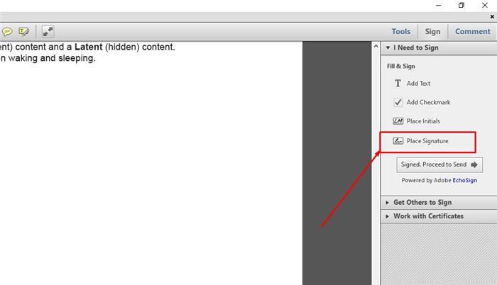 eSign with Adobe step 2