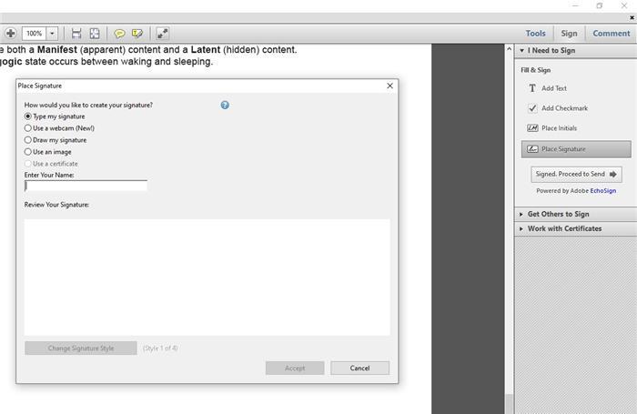 eSign with Adobe step 3