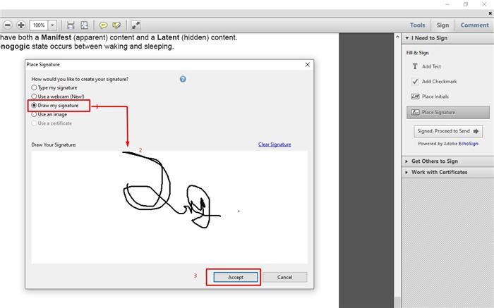 eSign with Adobe step 4