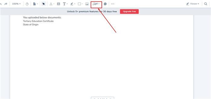eSign with Luminpdf step 2